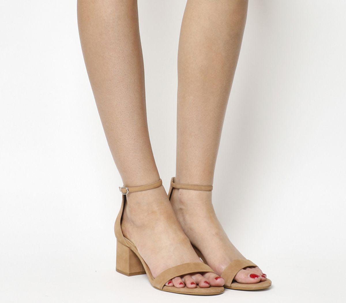 1b54cfa0511 Office Finley Block Heel Sandals Nude Nubuck - Mid Heels