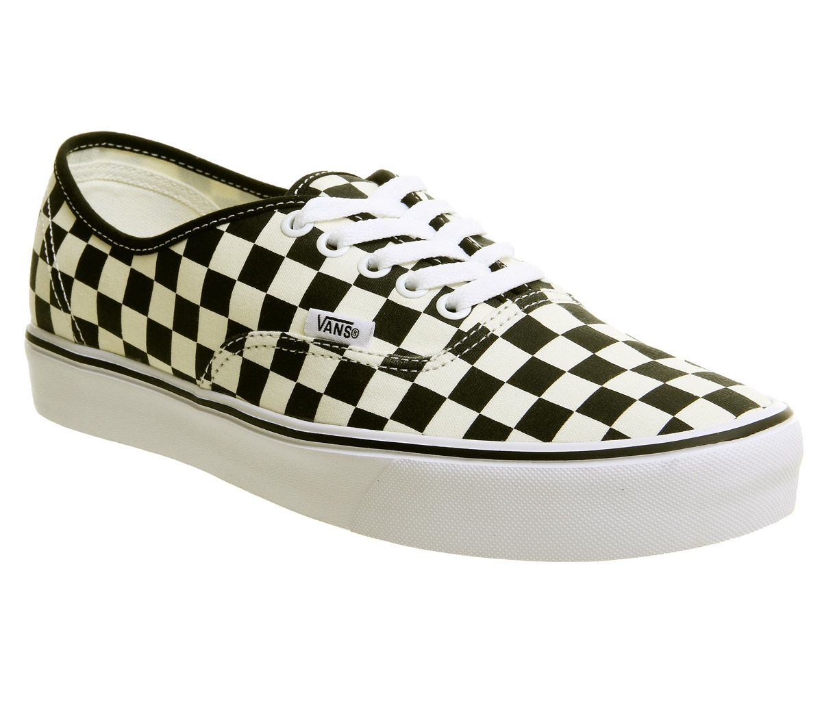 f47f28a3b4 Vans Authentic Lite Trainers Black White Checker - Hers trainers