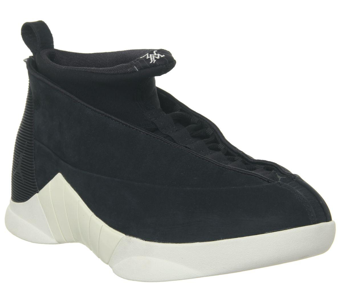 6763336f878 Nike Air Jordan 15 Retro Og Trainers Psny Black Sail Black - His ...