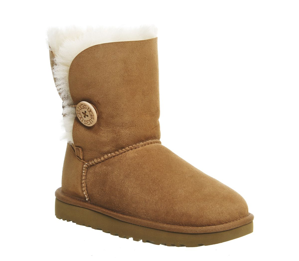 d063430e2 UGG Bailey Button II Boots Chestnut Suede - Ankle Boots