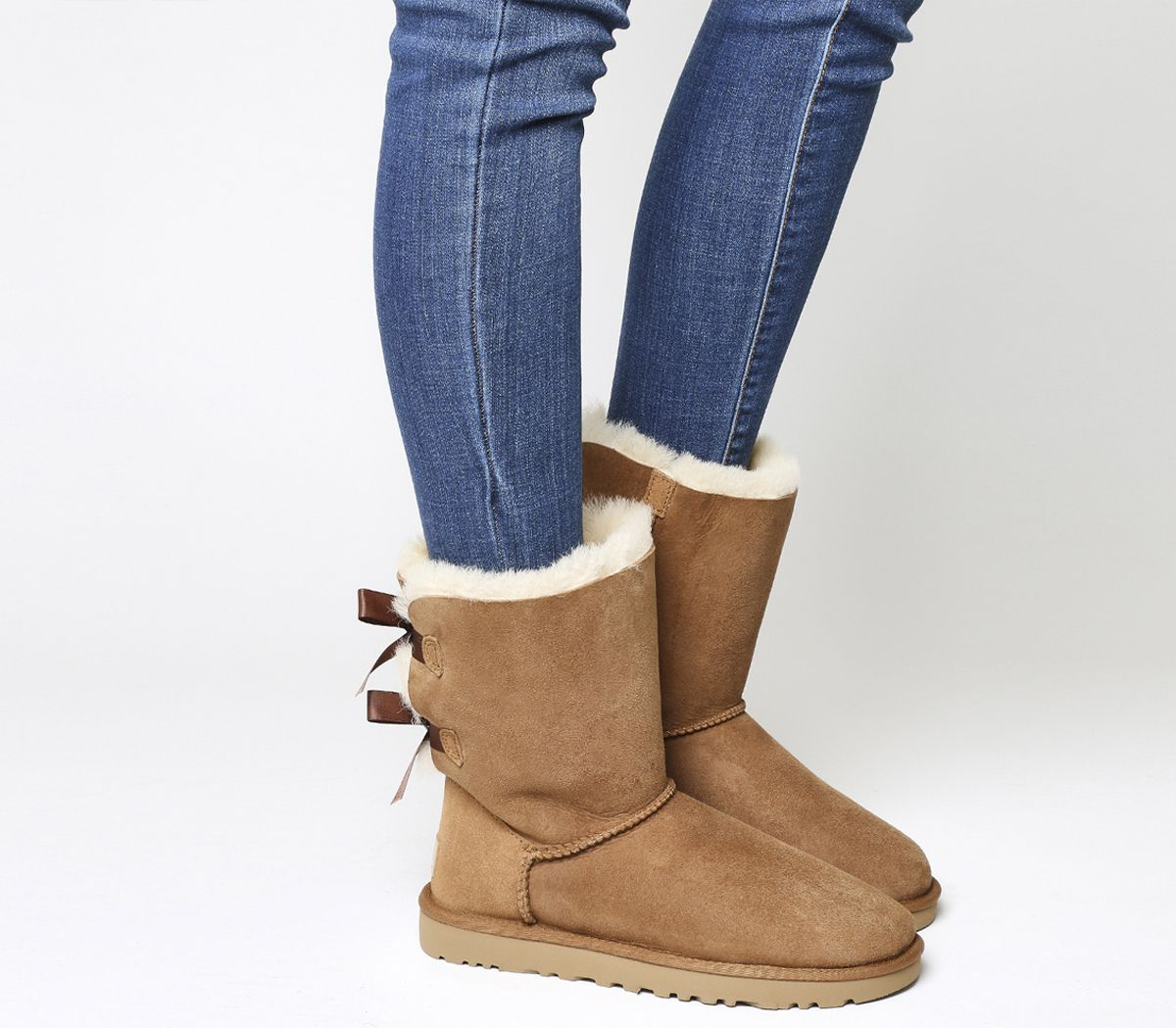 f0743ec7b48b UGG Bailey Bow II Calf Boots Chestnut Suede - Ankle Boots