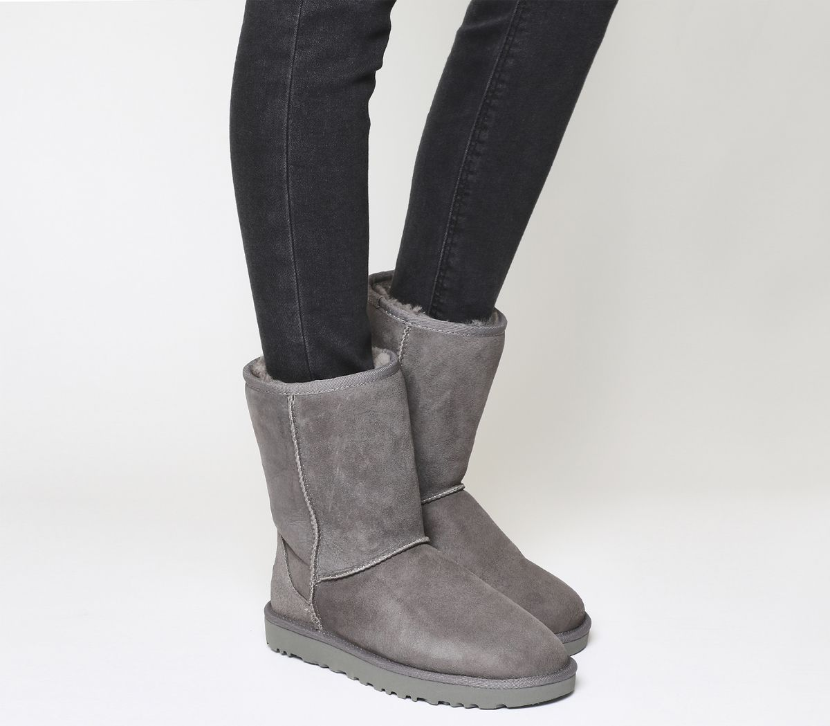 2f17849b1 UGG Classic Short II Boots Grey Suede - Ankle Boots