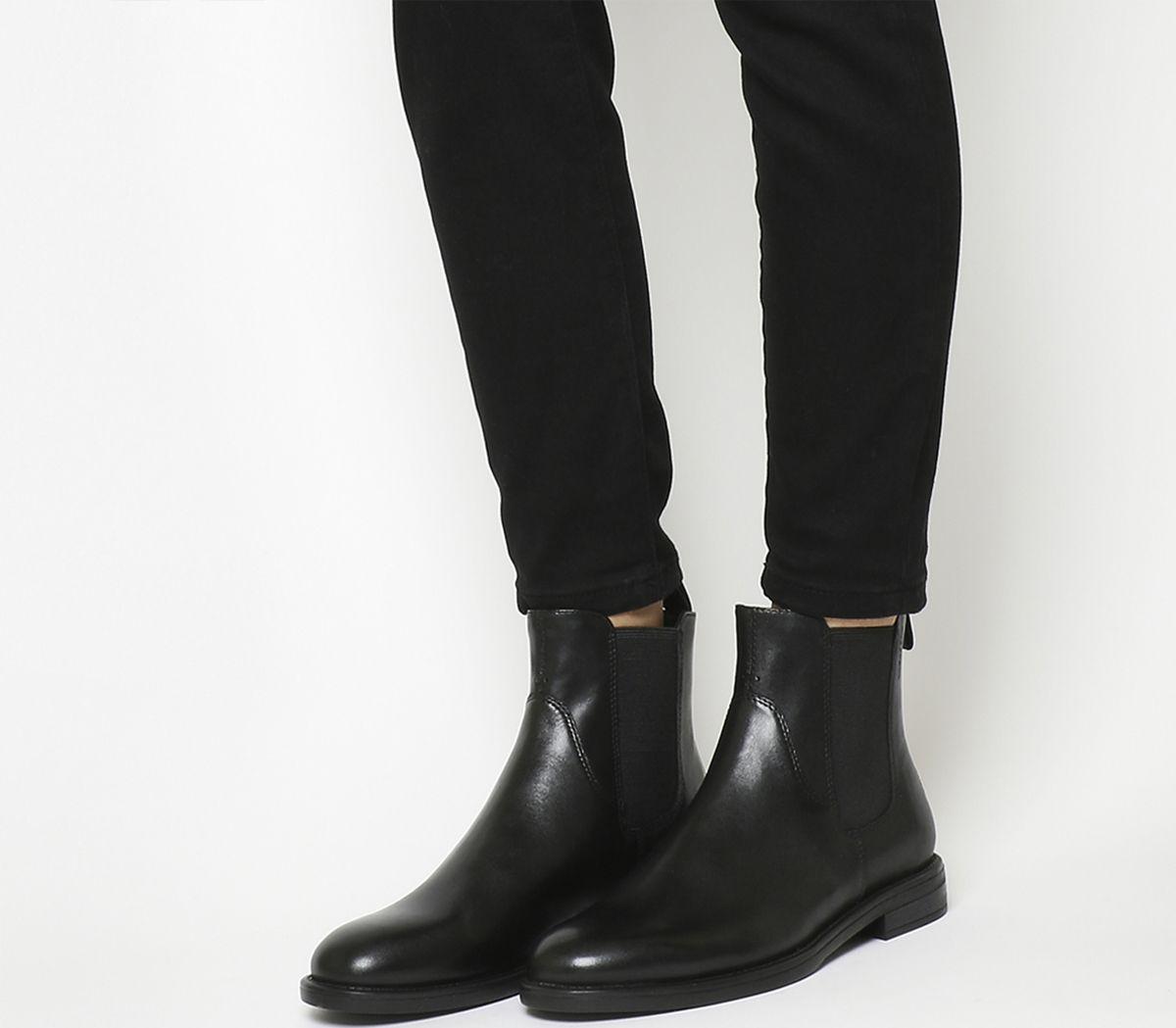more photos 65d09 988dd Vagabond Amina Chelsea Boots Black Leather - Ankle Boots