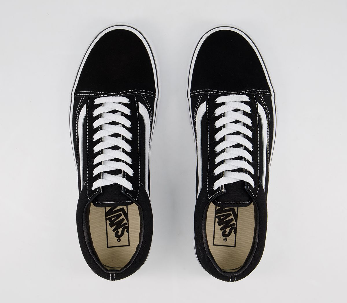 a646617779d Vans Old Skool Platform Black White - Hers trainers