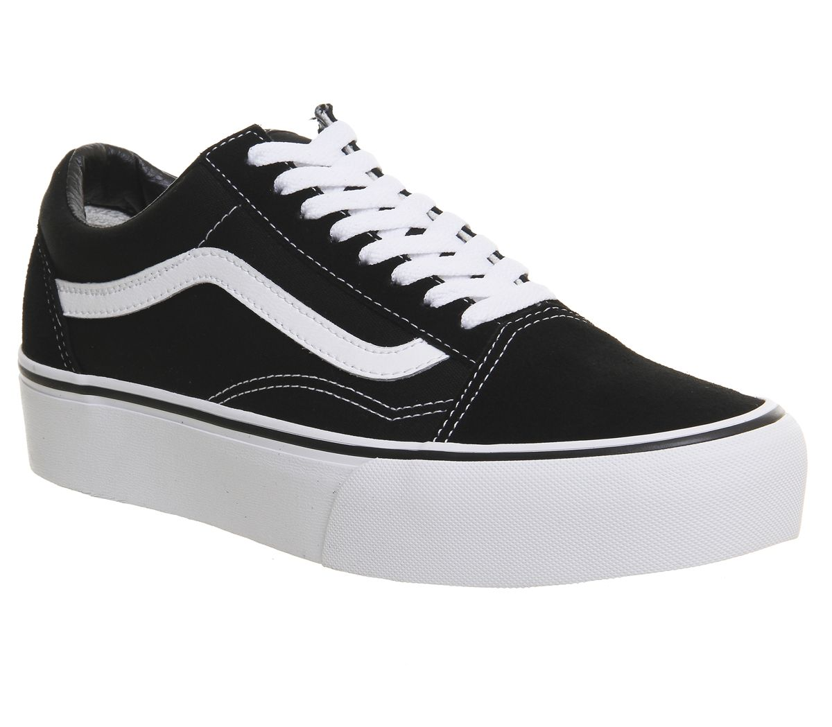 608917d09a2 Vans Old Skool Platform Black White - Hers trainers