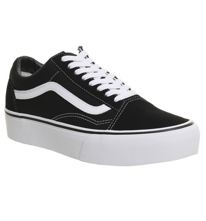 33f6e2d70c Vans Old Skool Platform Black White - Hers trainers