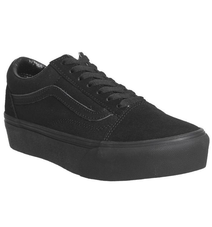c0c202d0e2e Vans Old Skool Platform Black White - Hers trainers