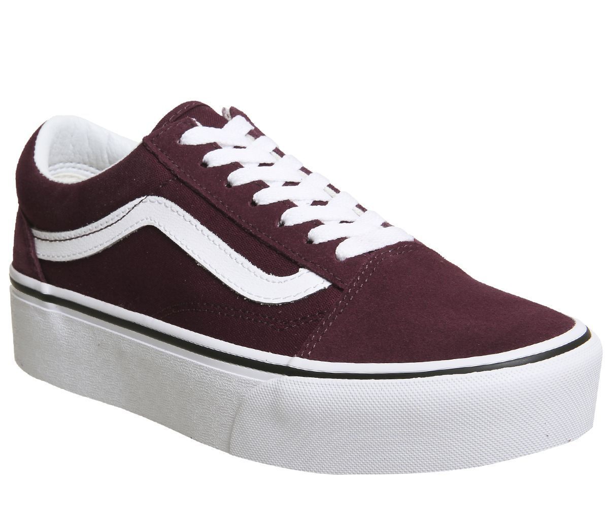 8c3c51eb4bc173 Vans Old Skool Platforms Port Royale White - Hers trainers