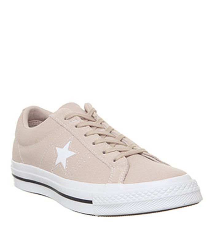4dc5152c51c4 19-02-2019 · Converse One Star Trainers Particle Beige White Black. was  £54.99 ...