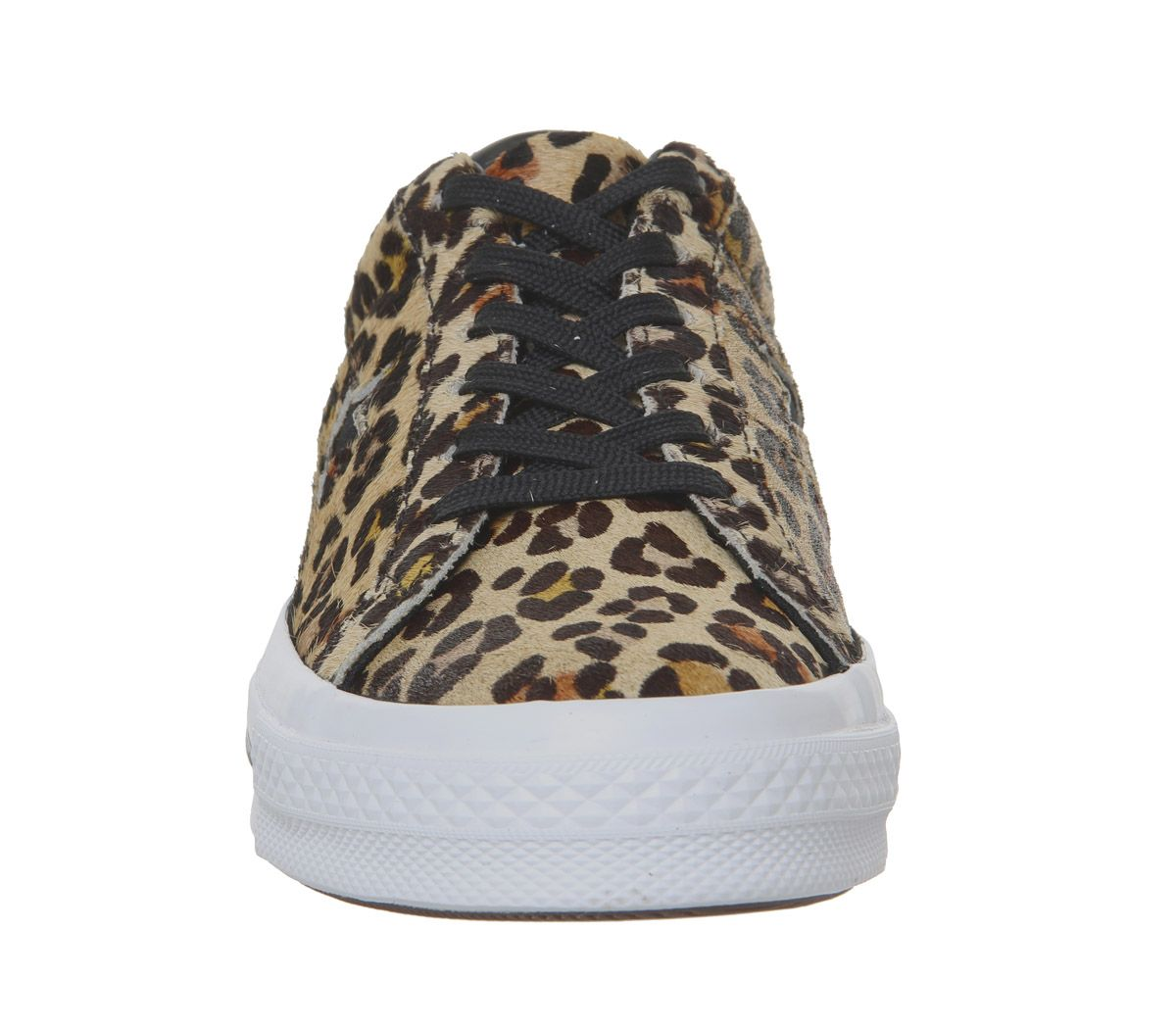 c10ed8230b1fb5 Converse One Star Trainers Leopard Black White - Hers trainers