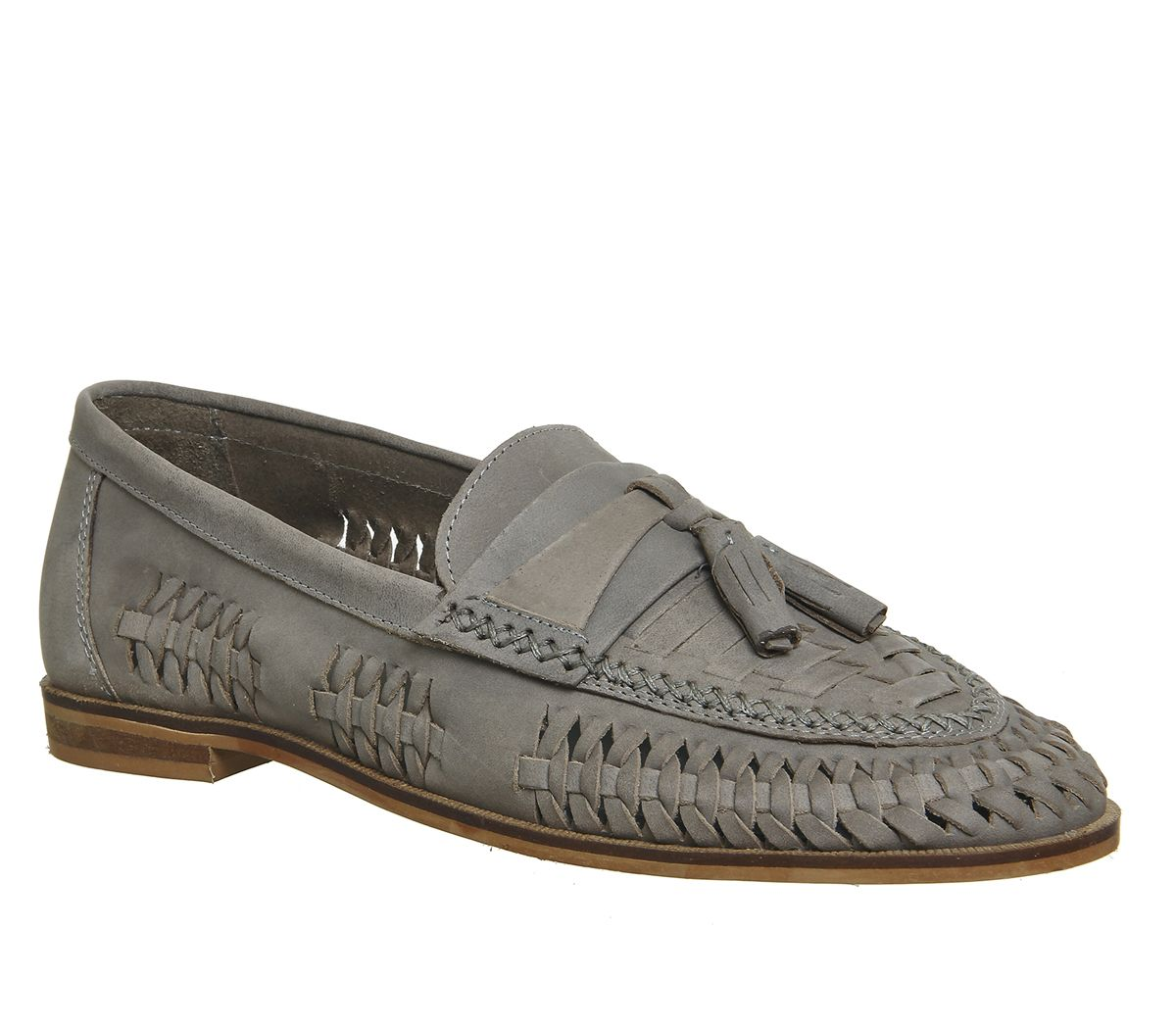 a34fee51776b Office Finsbury Woven Tassle Loafers Light Grey Leather - Casual