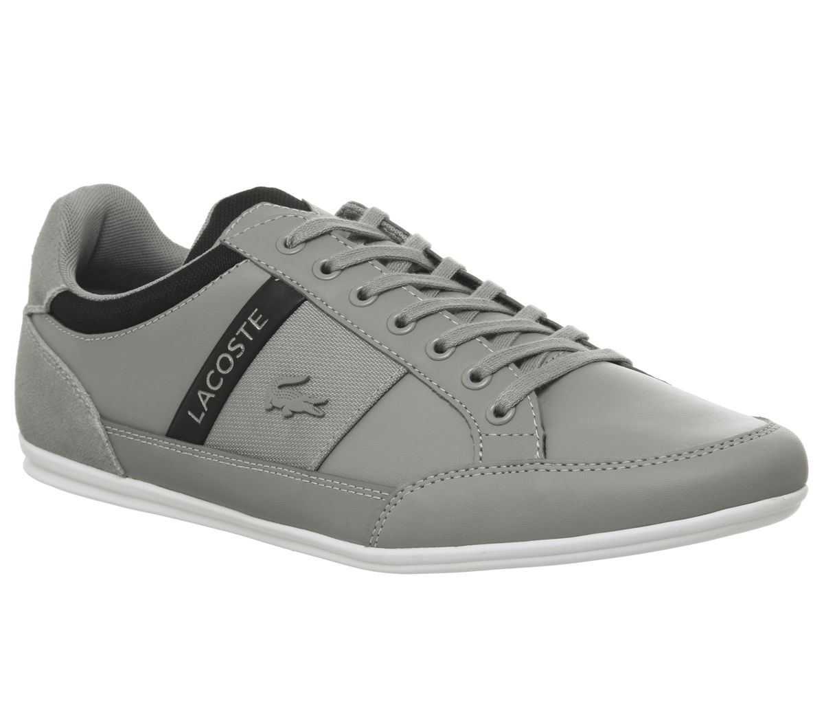 9c45daa63 Lacoste Chaymon Trainers Grey Black - His trainers