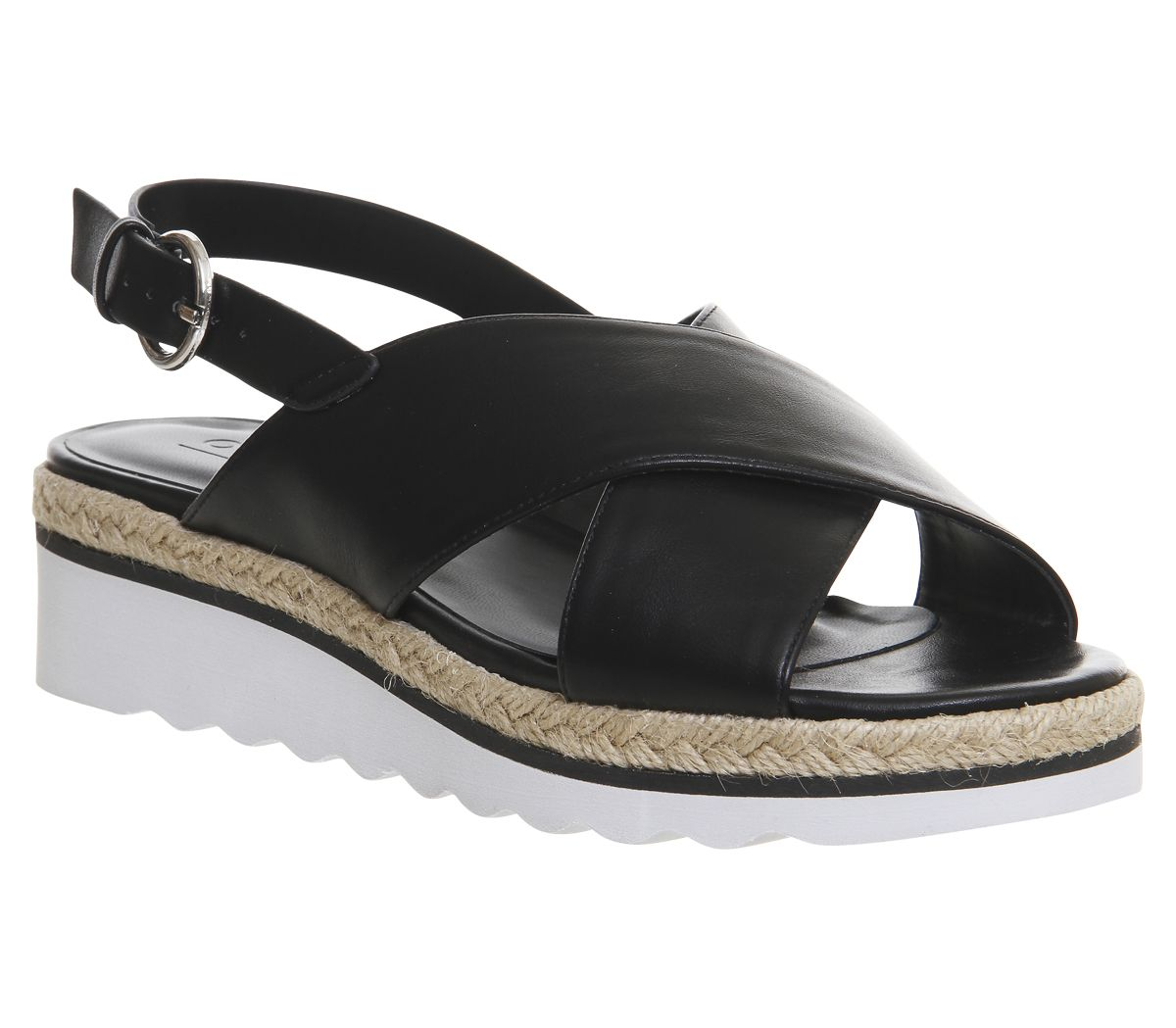 15f01a9b025 Office Saturn Cross Strap Espadrille Sandals Black - Sandals