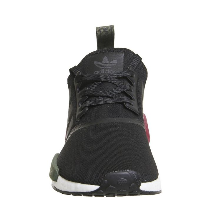 f4cd070c3 ... Black Burgundy Olive Exclusive  Nmd R1 Trainers  Nmd R1 Trainers ...