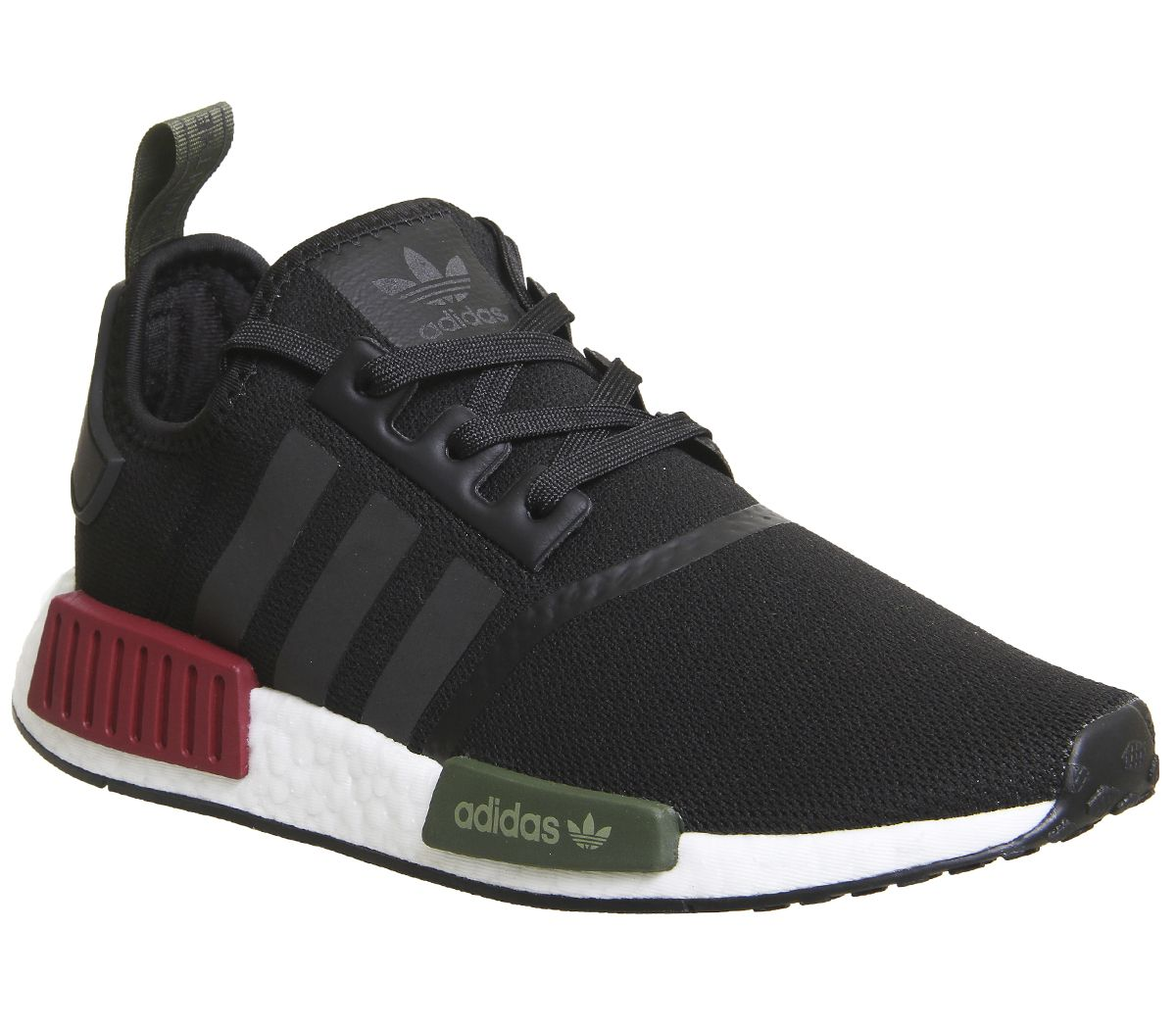 87801694630cd adidas Nmd R1 Trainers Black Burgundy Olive Exclusive - His trainers