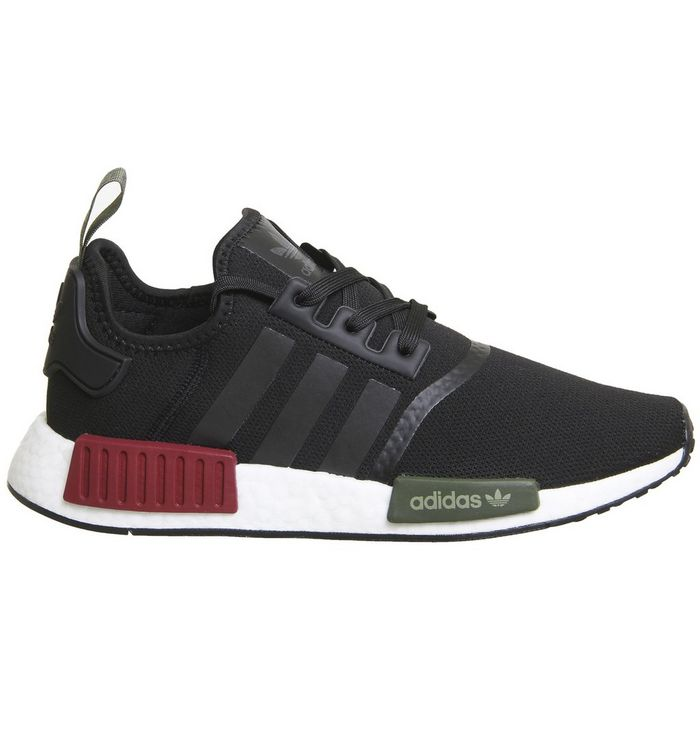 49d4f51cd adidas Nmd R1 Trainers Black Burgundy Olive Exclusive - His trainers