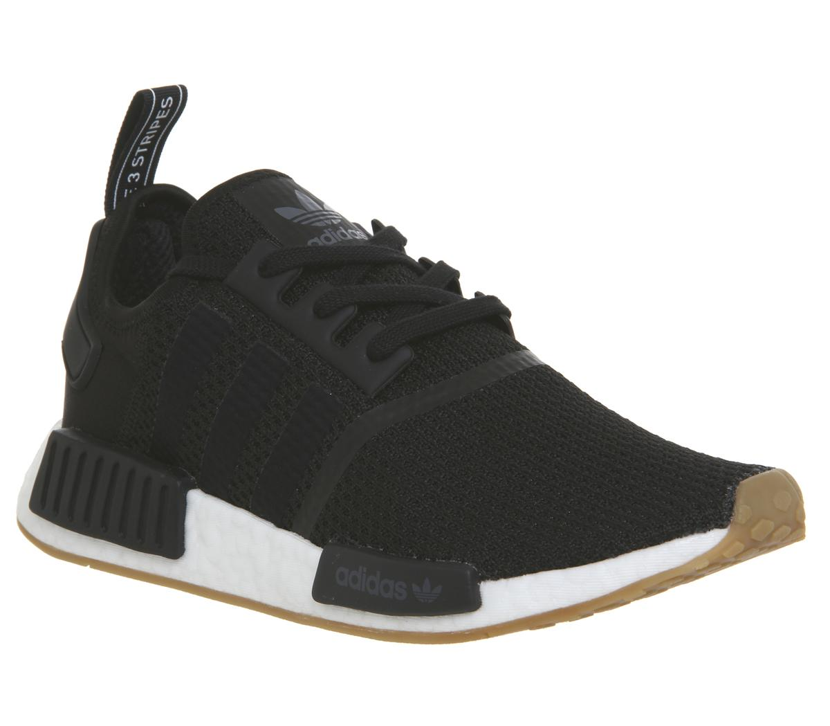 buy online 590e5 7f71c adidas Nmd R1 Trainers Core Black Core Black Gum - His trainers