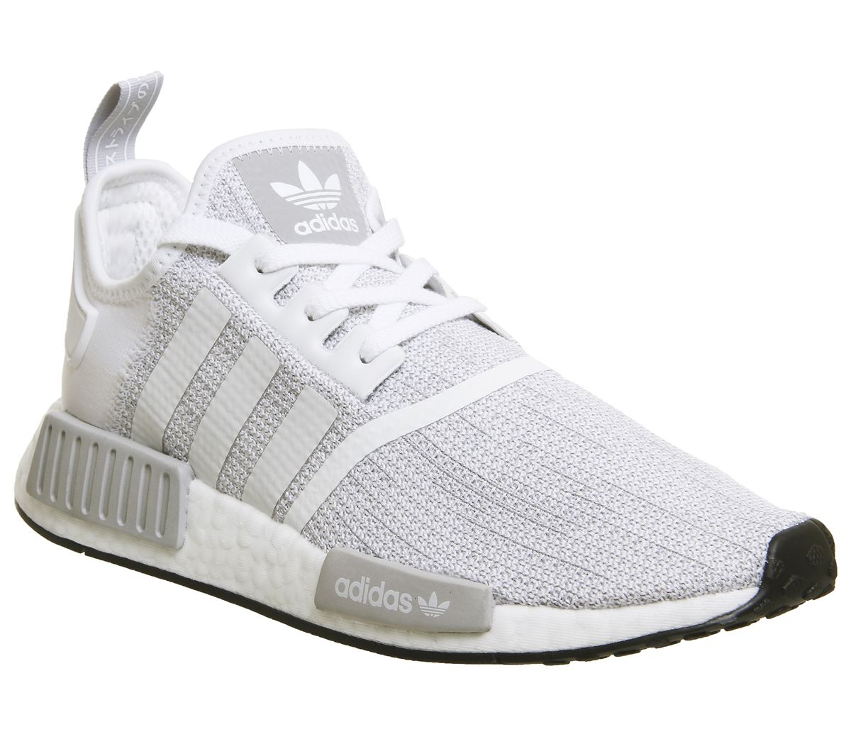 df8f7296c adidas Nmd R1 Trainers White Grey Core Black - His trainers