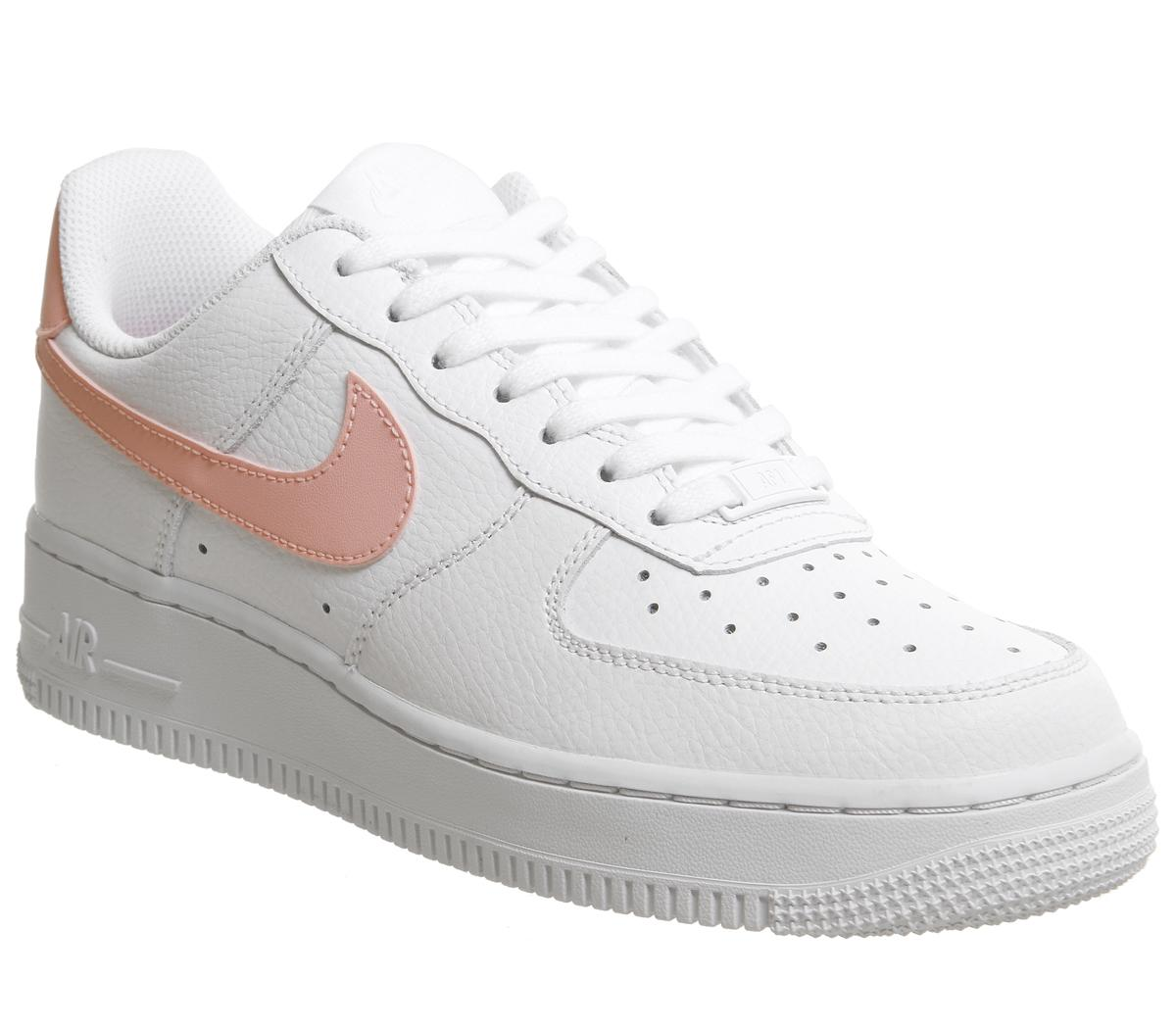 Nike Air Force 1 07 Trainers White Oracle Pink White ...