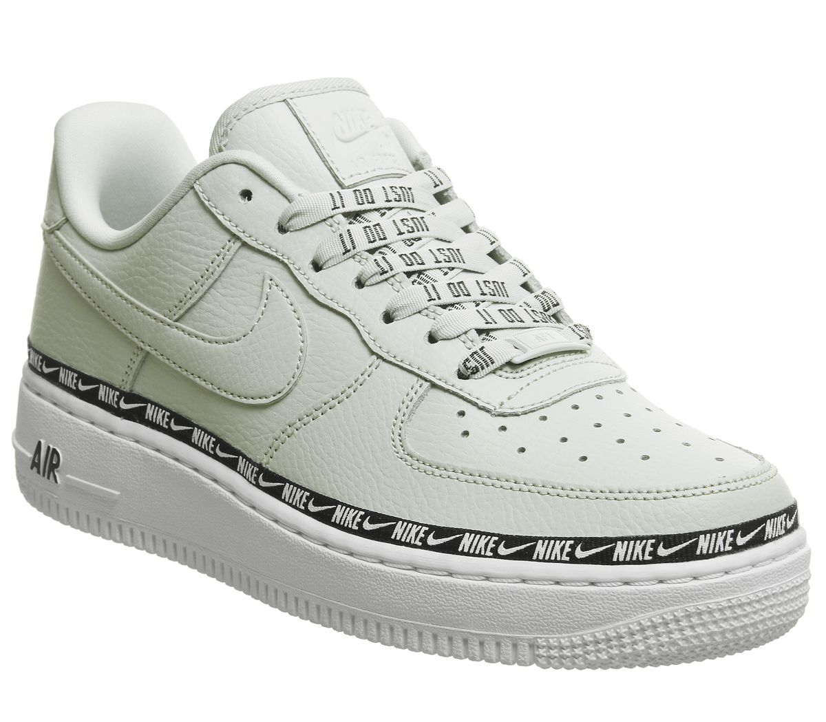 923c36cc313ec Nike Air Force 1 07 Trainers Light Silver Black White F - Hers trainers