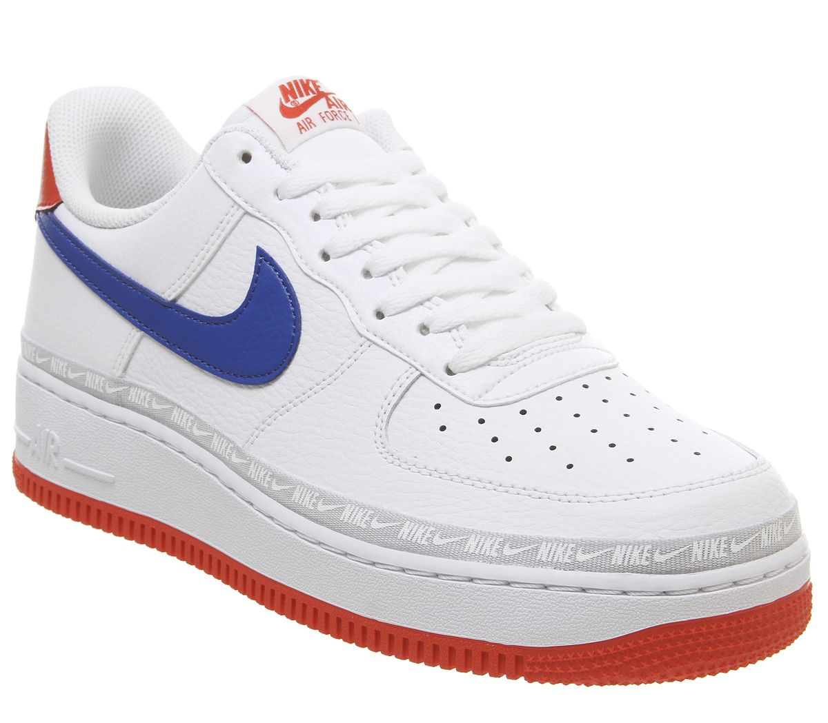 best service c5d21 c9989 Nike Air Force 1 07 Trainers White Red Blue Gel - His trainers