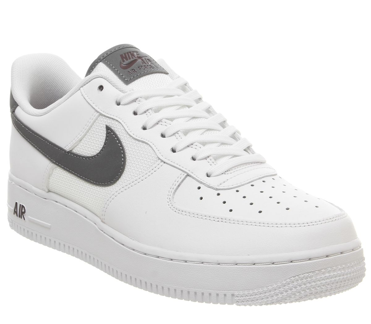 new styles c40c9 d4c40 Nike Air Force 1 07 Trainers White Cool Grey Night Maroon - His trainers