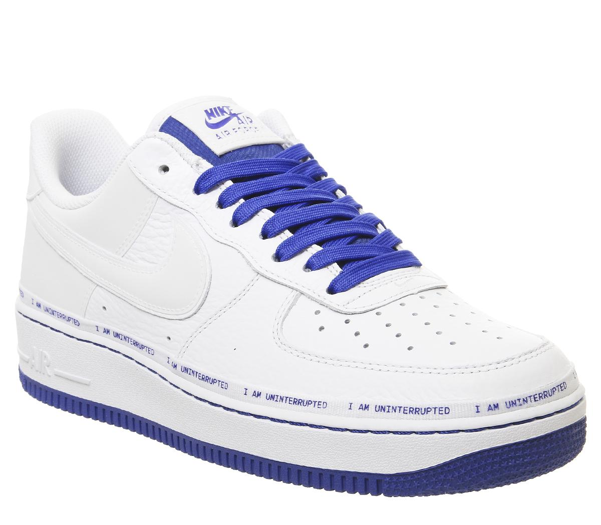 Humano Propuesta Pies suaves  Nike Air Force 1 07 Trainers Mtaa White Black Racer Blue - Hers trainers