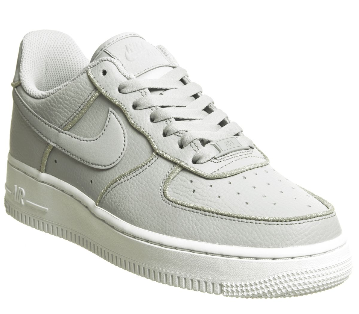 newest eefc7 03f0c Nike Air Force 1 07 Trainers Wolf Grey Glitter - Hers trainers