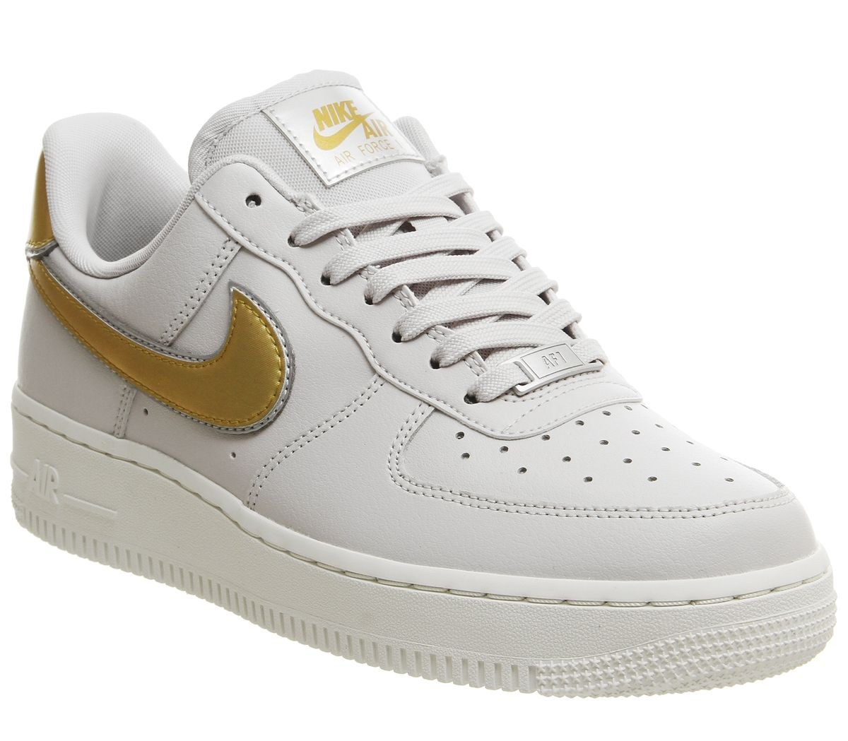 8617efb2a Nike Air Force 1 07 Trainers Vast Grey Gold Summit White Platinum ...