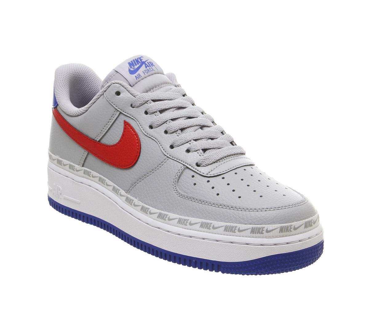 Nike Air Force 1 07 Trainers Grey Blue
