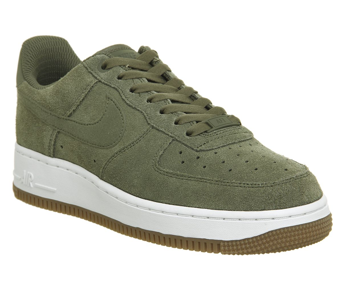 promo code 08417 8ee63 Nike, Air Force 1 07 Trainers, Medium Olive White Gum