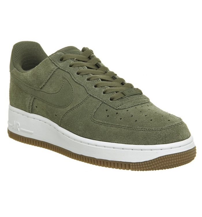 04fe4710a4 Nike Air Force 1 07 Trainers Medium Olive White Gum - Hers trainers