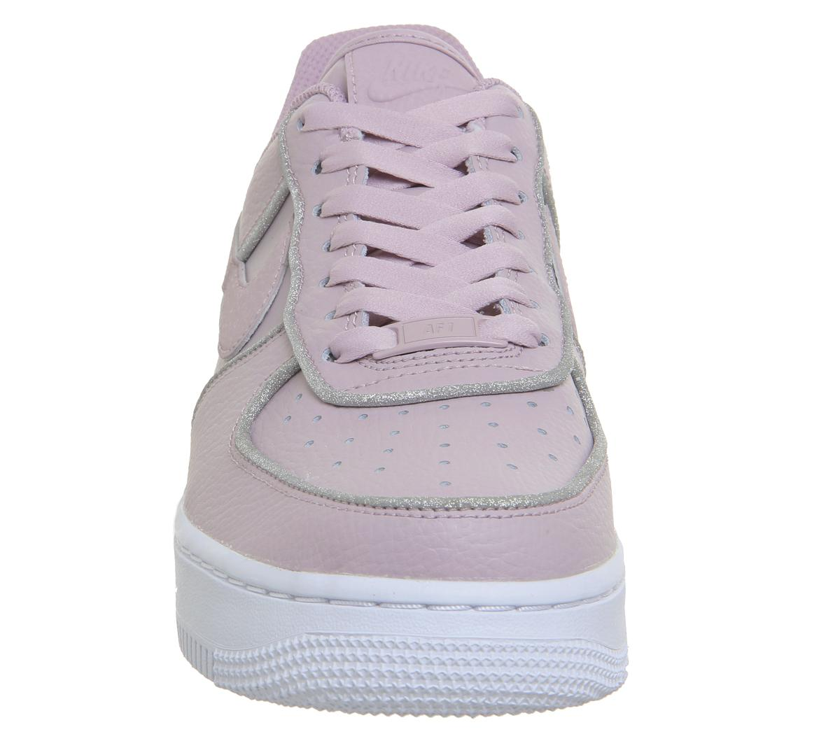 Nike Air Force 1 07 Trainers Particle Rose Glitter - Sneaker ...