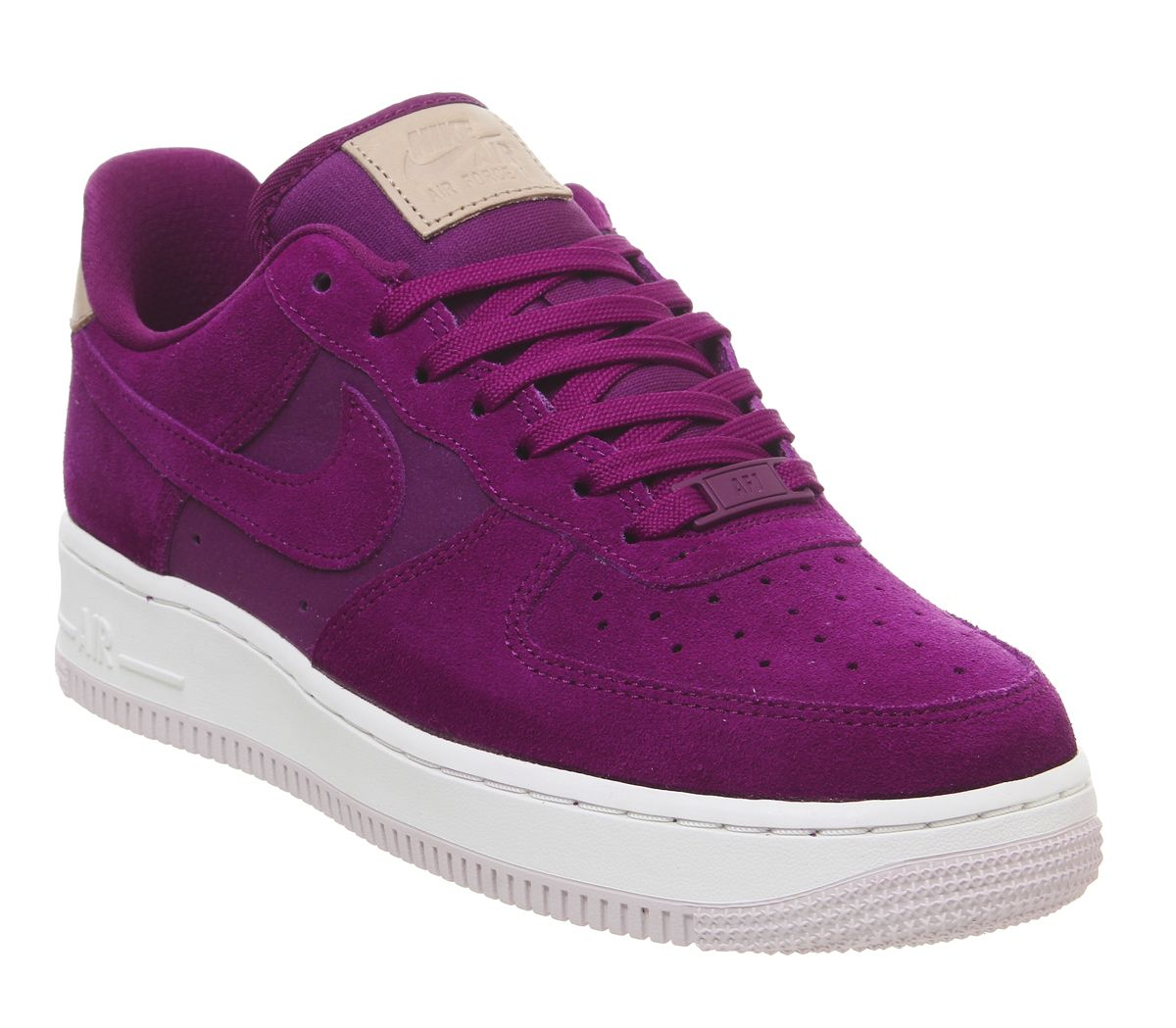 53bdcbb8112 Nike Air Force 1 07 Trainers True Berry Summit White Vachetta Tan ...