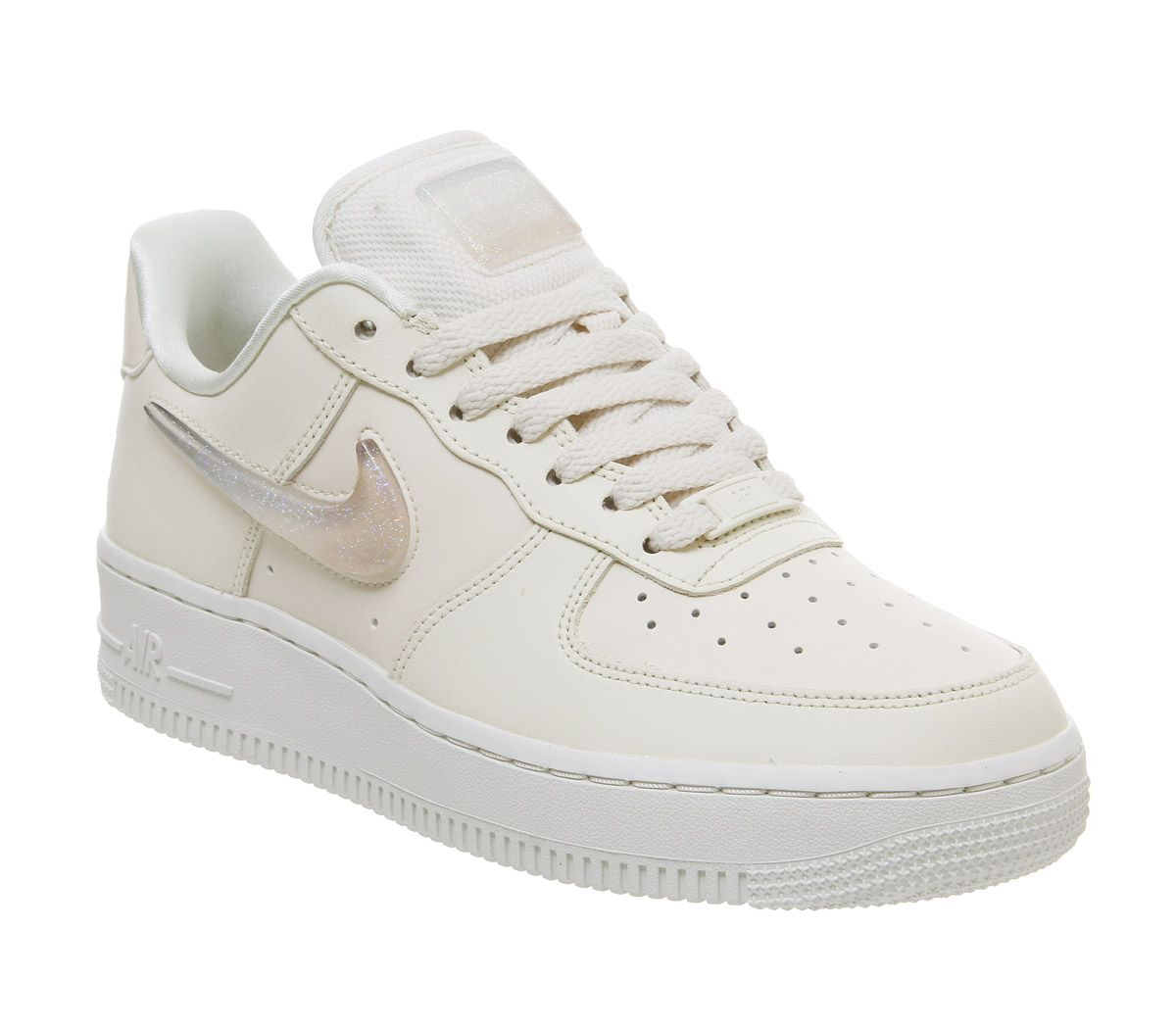 hot sale online 6c72f 7a9bf Nike Air Force 1 07 Trainers Pale Ivory Summit White Guava Ice ...