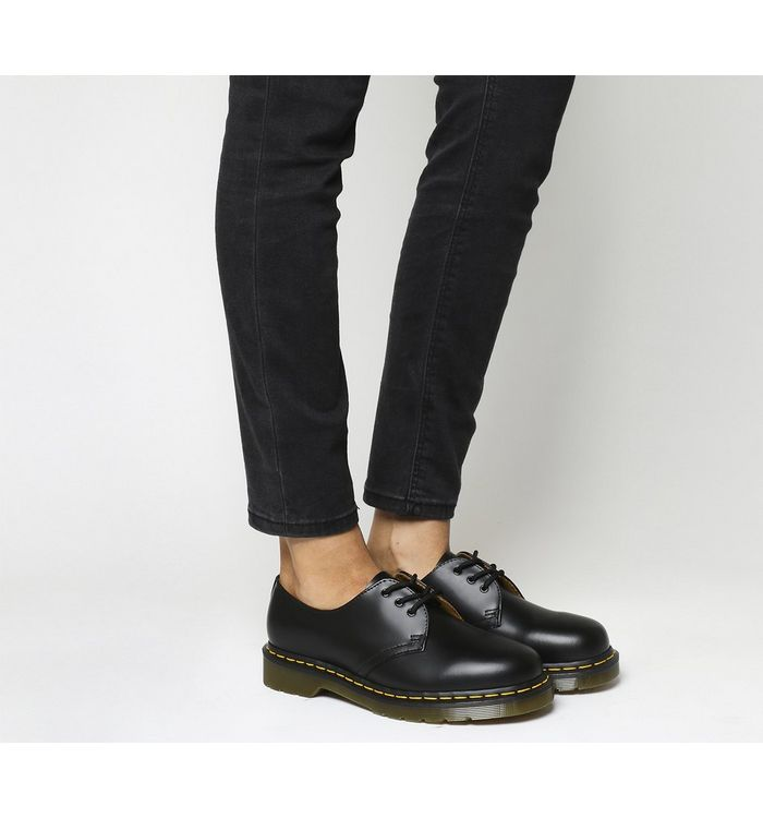 5aced67b2184 Dr. Martens 3 Eyelet Shoes Black Patent - Flats
