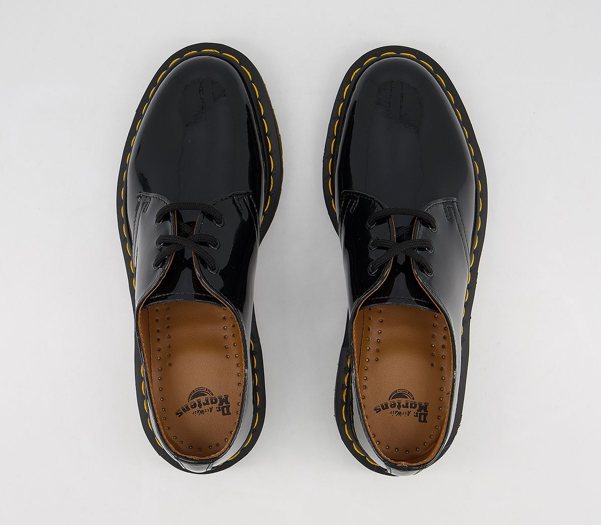 711ceb73ad Dr. Martens 3 Eyelet Shoes Black Patent - Flats