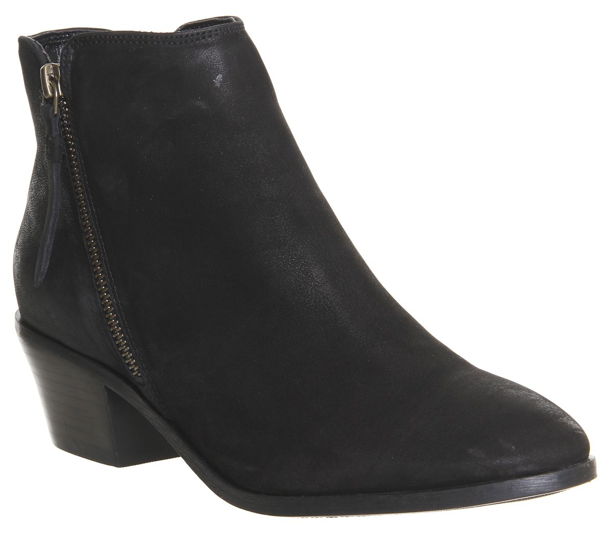 d9fffa81483e1a Office Austin Side Zip Casual Ankle Boots Black Nubuck - Ankle Boots