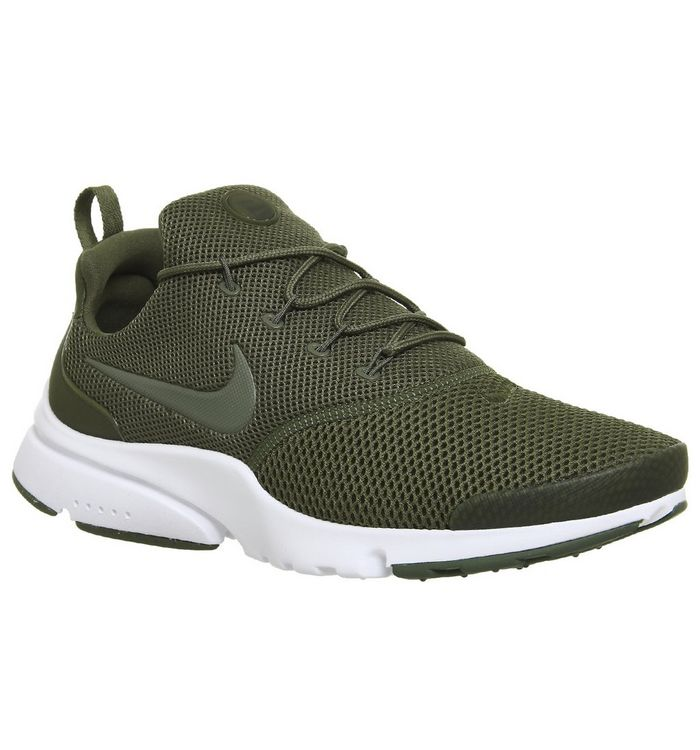 3a5857e372d5 Nike Presto Fly Trainers Medium Olive White - His trainers