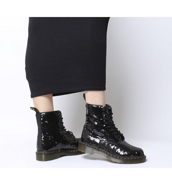 fc3f3a65d3e8 Dr. Martens 8 Eyelet Lace Up Boots Black Patent - Ankle Boots