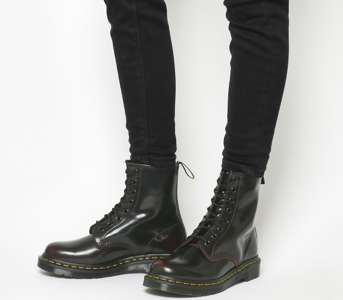 86d56c9179e5 Dr. Martens 8 Eyelet Lace Up Boots Cherry Red Arcadia - Ankle Boots