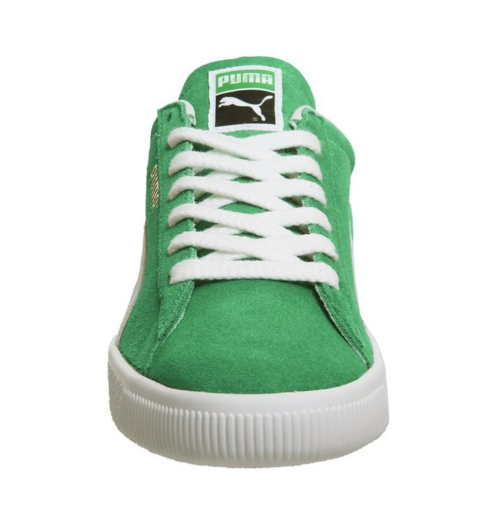 official photos d89e8 f96b6 Puma Suede Classic Trainers Kelly Green Puma White - His ...