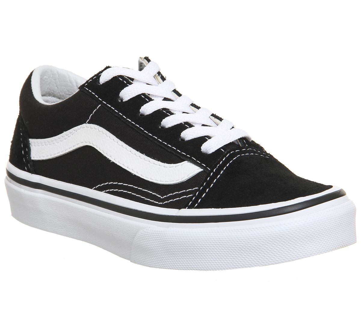 d1fcb20f8c Vans Old Skool Lace K Black True White - Unisex