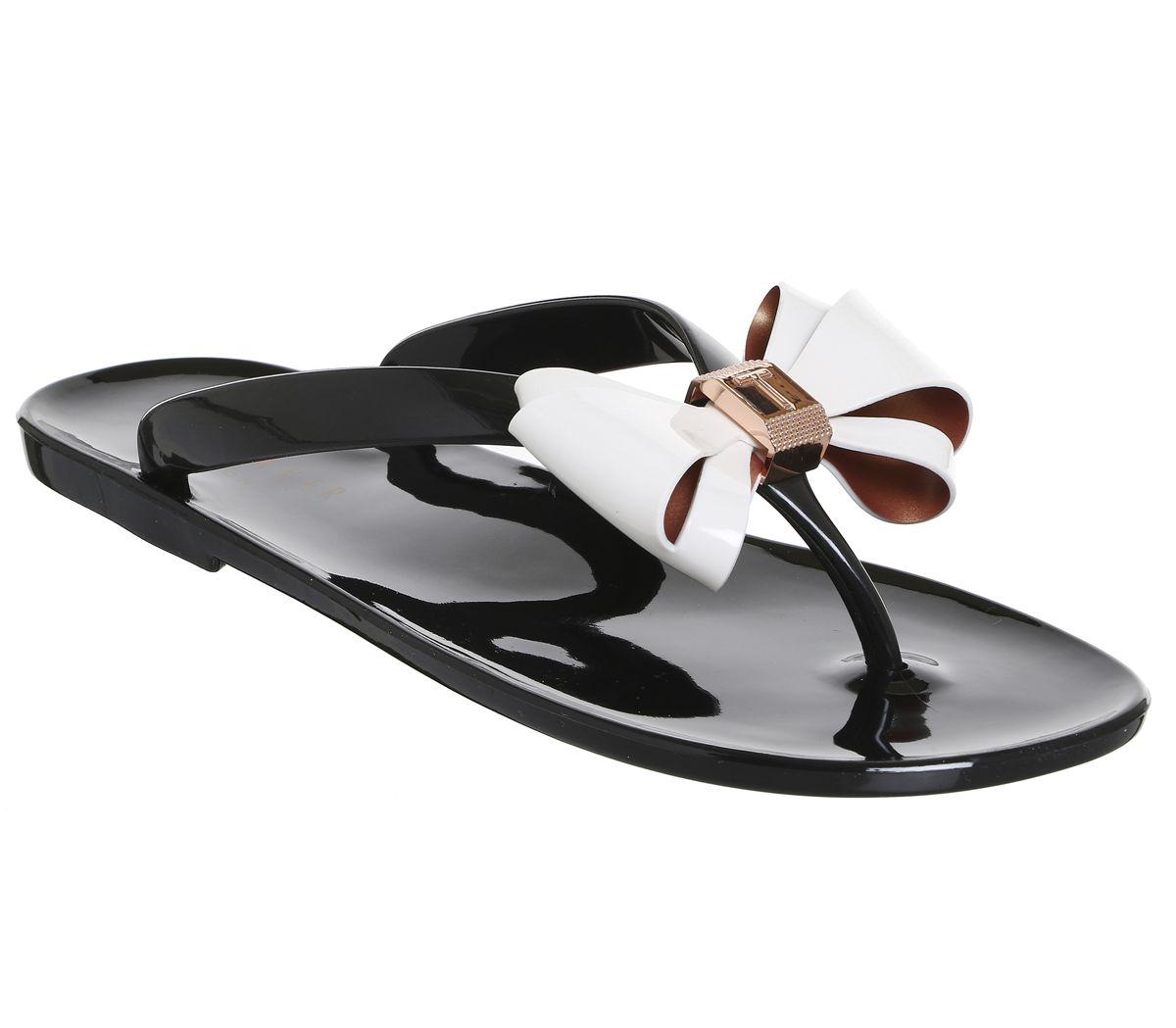 e0c6235a9 Ted Baker Rafeek Flip Flop Black Cream - Sandals