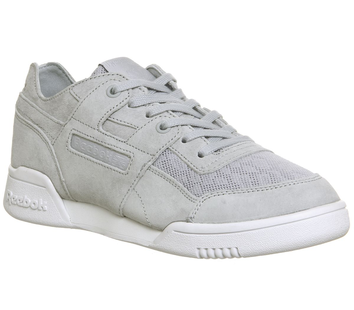 5779e03641a86 Reebok Workout Low Plus Trainers Cloud Grey White - Hers trainers