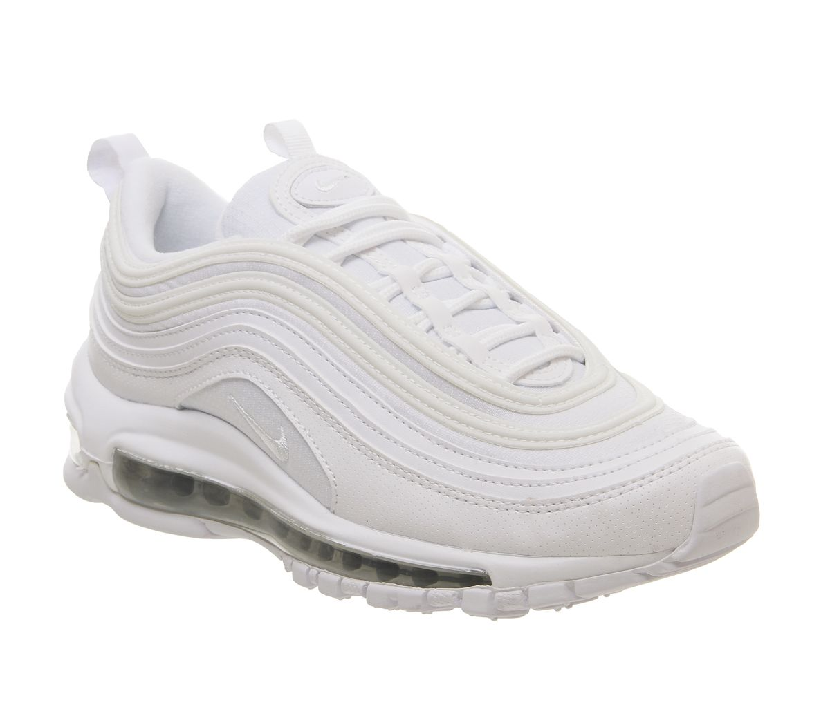 dd81988b4c Nike Air Max 97 Gs Trainers White White Metallic Silver - Hers trainers