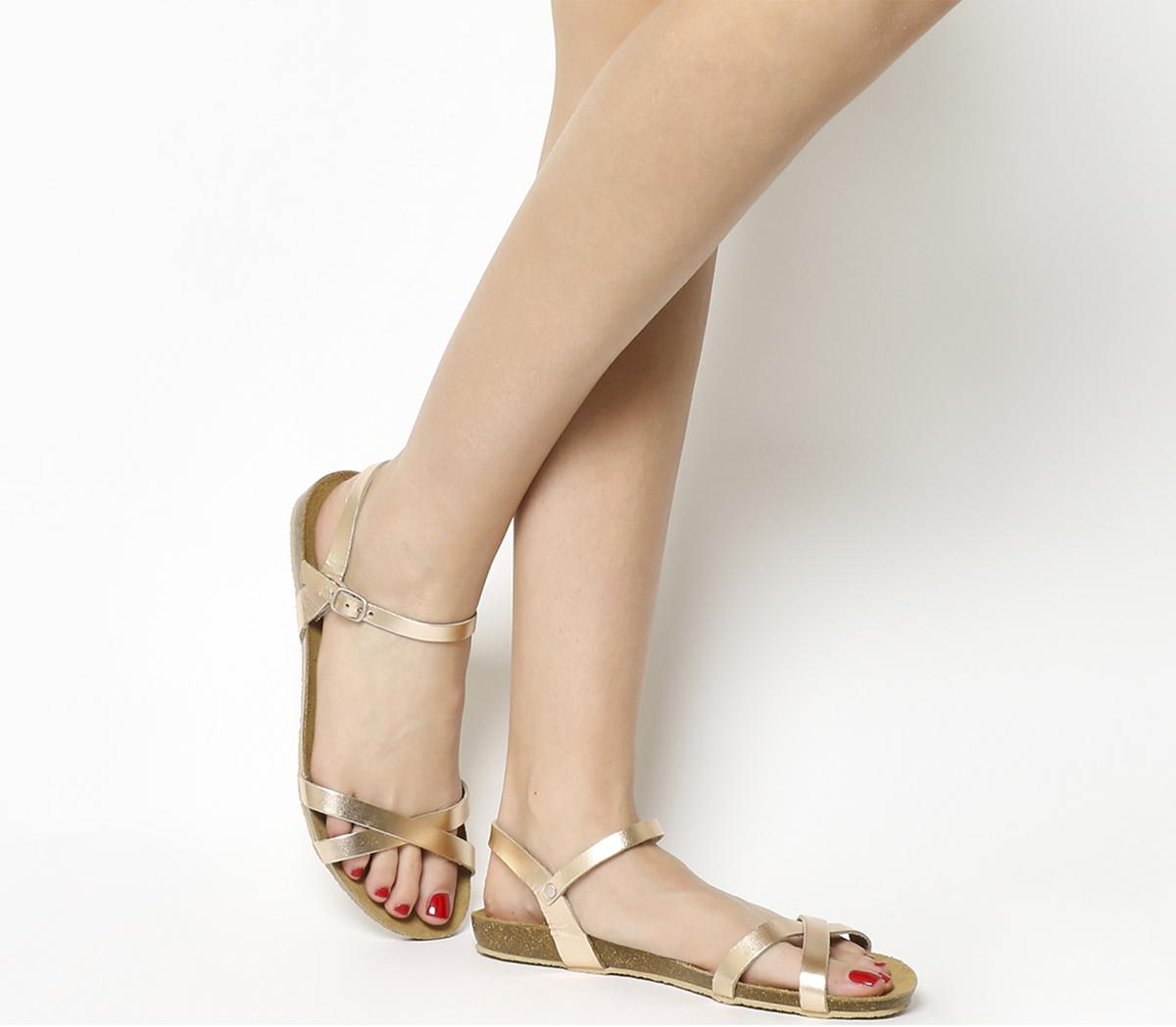 Safari Cross Strap Footbed Sandals