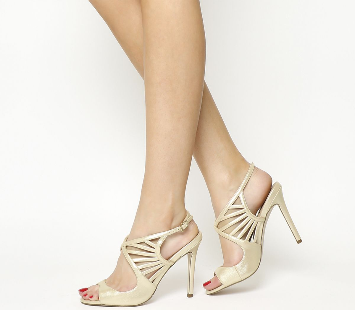 cb02f637c26 Office Hero Strappy Sandals Champagne - High Heels