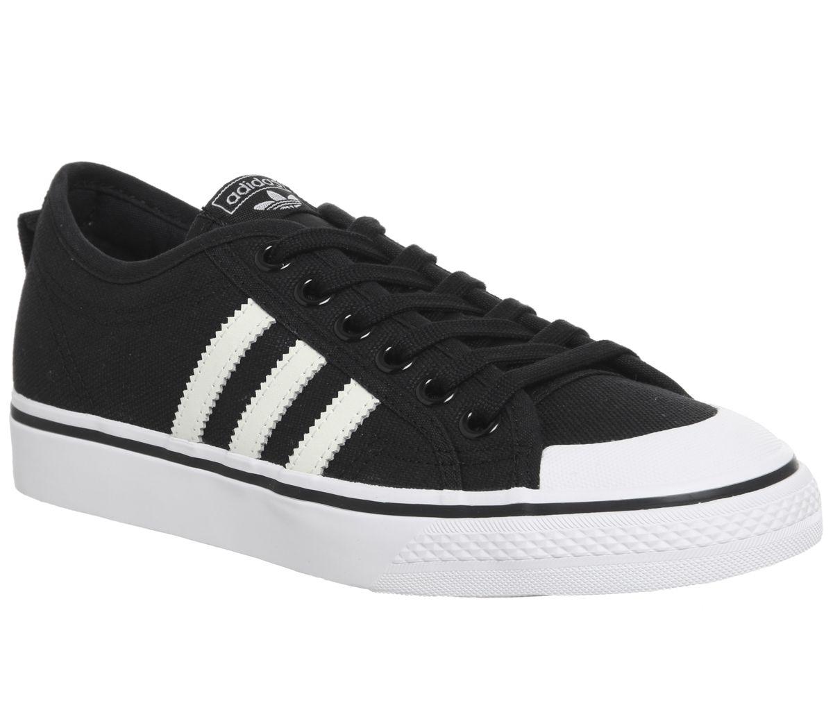 huge discount f9661 927c0 adidas Nizza Trainers Black White - Unisex Sports