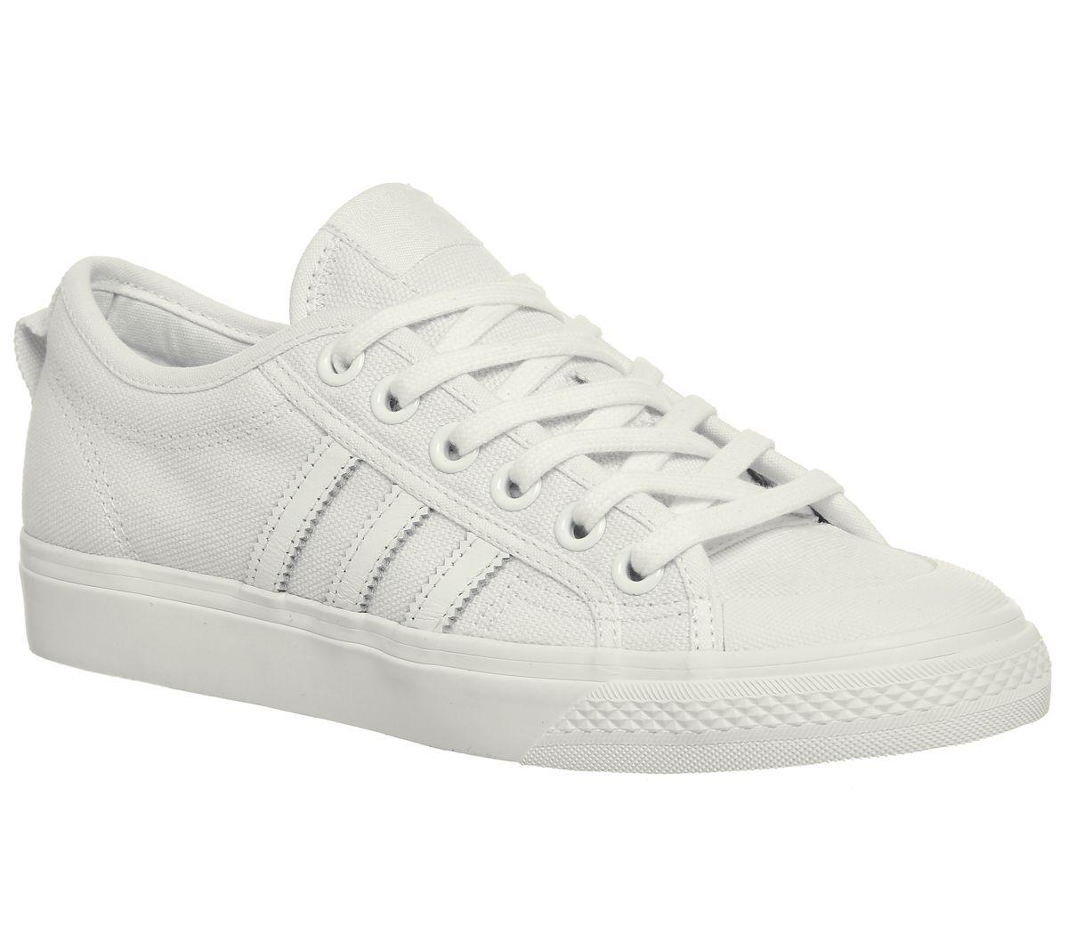 fe70712c2 adidas Nizza Trainers White Mono - Unisex Sports